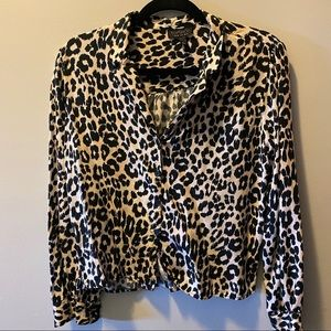COPY - Topshop leopard print long sleeved cropped…